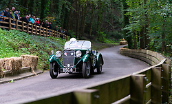 Boness Revival hillclimb motorsport event in Boness, Scotland, UK. The 2019 Bo'ness Revival Classic and Hillclimb, Scotland's first purpose-built motorsport venue, it marked 60 years since double Formula 1 World Champion Jim Clark competed here.  It took place Saturday 31 August and Sunday 1 September 2019. 15 Martin Fairbairn Singer 9 HP Le Mans Longtail
