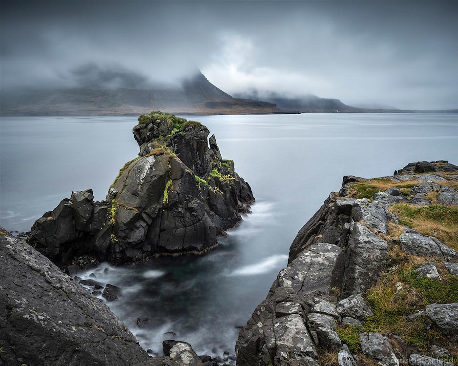 Seascape from Strandir, Northwest Iceland.