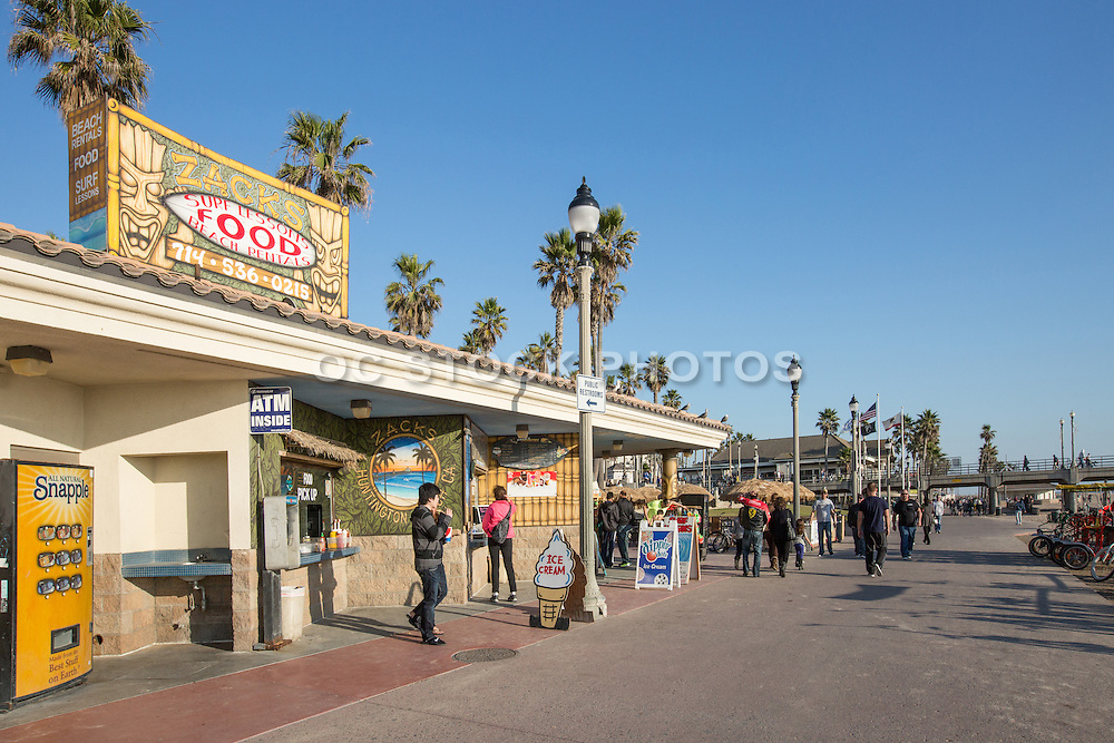 Zacks Snack Shop and Beach Rentals at the Huntington Beach Pier