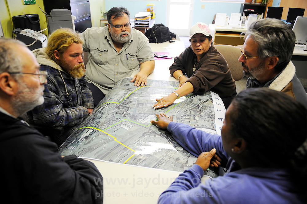 In a meeting on Saturday at the Soledad Community Learning Center, concerned parties discussed where in the neighborhood Soledad Street's homeless population can go after the City of Salinas sweeps the area on Thursday, January 31st.