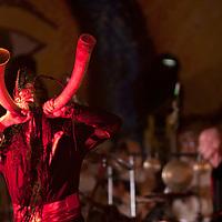 Metepec, Mexico.- La orquesta medieval Corvus Corax de Alemania presento su espectaculo Cantus Buranus en la clausura del festival cultural Quimera 2011. Agencia MVT / Mario Vazquez de la Torre. (DIGITAL)