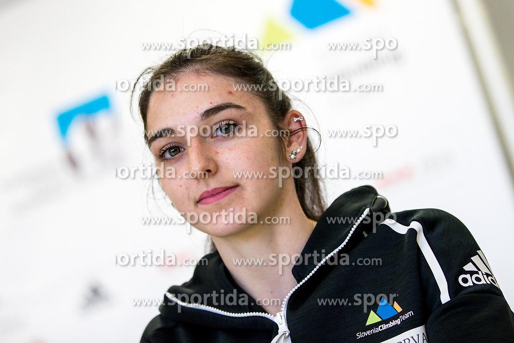 Mia Krampl at press conference of PZS before IFSC Climbing World Championships Hachioji (JPN) 2019, on August 1, 2019 in PZS, Ljubljana, Slovenia. Photo by Matic Klansek Velej / Sportida