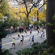 NYTRUN - NOV. 6, 2016 - NEW YORK - Runners head into Central Park on East Drive near E 90th Street as they participate in the 2016 TCS New York City Marathon on Sunday afteroon. NYTCREDIT:  Karsten Moran for The New York Times