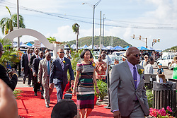 Senators for the 32nd Legislature enter for their Swearing-In ceremony at Emancipation Garden.  St. Thomas Swearing-In Ceremony for the 32nd Legislature of the US Virgin Islands.  Emancipation Garden.  St. Thomas, VI.  9 January 2017.  © Aisha-Zakiya Boyd