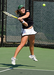 Miami's Bianca Eichkorn in the #2 doubles match.  The #12 ranked Miami Hurricanes defeated the #50 ranked Virginia Cavaliers in women's tennis 6-1 at the University of Virginia's Snyder Tennis Center in Charlottesville, VA on March 22, 2008.