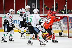 Aleksander Magovac of Jesenice celebrates during ice hockey match between HDD SIJ Acroni Jesenice and HDD Olimpija Ljubljana in Final of Slovenian League 2016/17, on April 9, 2017 in Podmezaklja, Jesenice, Slovenia. Photo by Matic Klansek Velej / Sportida