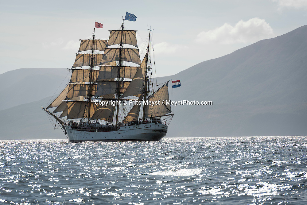 Antarctica, February 2016. Bark Europa in the Straits of Magellan. Dutch Tallship, Bark Europa, explores Antarctica during a 25 day sailing expedition. Photo by Frits Meyst / MeystPhoto.com