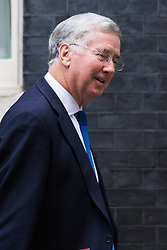 Downing Street, London, October 20th 2015.  Defence Secretary Michael Fallon leaves 10 Downing Street after attending the weekly cabinet meeting.