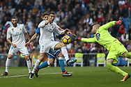 MADRID, SPAIN. January 21, 2018 - Cristiano Ronaldo in action in Depor's area. Doubles for Cristiano Ronaldo, Bale and Nacho, alongside Modric's sole strike, overturn Deportivo's early goal in a superb display of the Whites' firepower. Photos by Antonio Pozo | PHOTO MEDIA EXPRESS