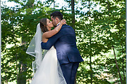 bride and groom, first kiss by Tallmadge wedding photographer, Akron wedding photographer Mara Robinson Photography