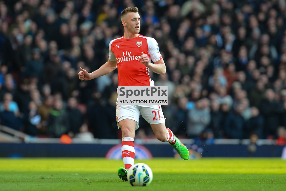 Calum Chambers of Arsenal in action during Arsenal v West Ham, Barclays Premier League, 14 March 2015 at Emirates Stadium, London, England (c) Salvio Calabrese | SportPixPix.org.uk
