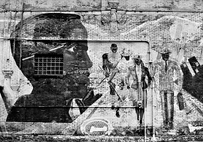 Mural off main street in downtown Memphis, Tennessee.