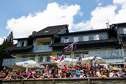 The fans at Sloveian Road Cycling Championship Time Trial 2020 Gorje - Pokljuka, on June 28, 2020 in Pokljuka, Slovenia. Photo by Matic Klansek Velej / Sportida
