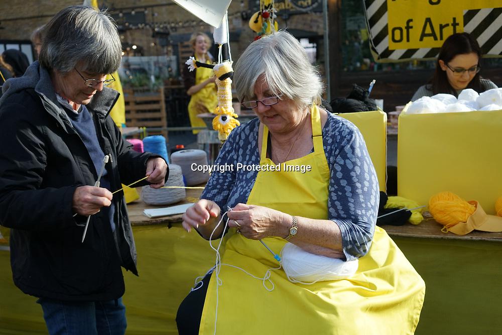 London, England, UK. 22th September 2017. Manufactory of Kingston School of Art free workshop as part London Design Fair 2017 at Old Spitalfields Market.