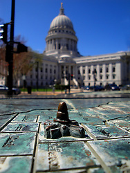 A miniature Wisconsin State Capitol.
