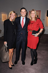 Left to right, Alexandra Vargas, Bernal Vargas and Georgina Cohen at the Krug Mindshare auction held at Sotheby's, New Bond Street, London on 1st November 2010.