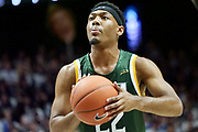 Jelen Pickett (22) of Siena shoots a free-throw during an NCAA college basketball game against Xavier, Friday, Nov. 8, 2019, at the Cintas Center in Cincinnati, OH. Xavier defeated Siena 81-63. (Jason Whitman/Image of Sport)