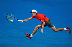 January 16, 2019 - Melbourne, VIC, U.S. - MELBOURNE, VIC - JANUARY 16: ALEX DE MINAUR (AUS) during day three match of the 2019 Australian Open on January 16, 2019 at Melbourne Park Tennis Centre Melbourne, Australia (Photo by Chaz Niell/Icon Sportswire) (Credit Image: © Chaz Niell/Icon SMI via ZUMA Press)