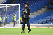 Diego Biseswar of PAOK FC (21) walking on the pitch prior to kick off during the Champions League group stage match between Chelsea and PAOK Salonica at Stamford Bridge, London, England on 29 November 2018.