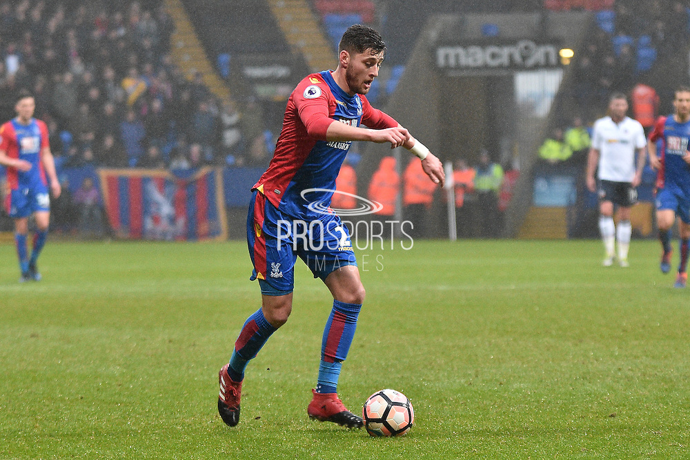 Crystal Palace Defender, Joel Ward (2) during the The FA Cup 3rd round match between Bolton Wanderers and Crystal Palace at the Macron Stadium, Bolton, England on 7 January 2017. Photo by Mark Pollitt.
