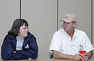 Linda Bertke, from Kettering (left) and Gary Moore, from Vandalia during a smoking cessation counseling session at Samaritan North Health Center, Thursday, November 1, 2007.
