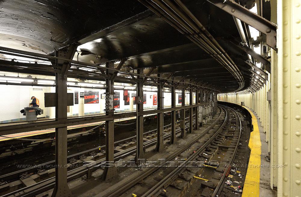 Subway in Manhattan, New York City, U.S.A.