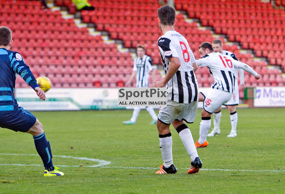 Dunfermline Athletic v Forfar Athletic SPFL League One Season 2015/16 East End Park 24 October 2015<br /> Ryan Wallace makes it 4-0 with his second goal<br /> <br /> CRAIG BROWN | sportPix.org.uk