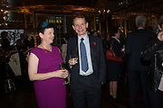 BARONESS NEVILLE-ROLFE; ANDREW MARR The launch of the 1939 Register, hosted by The National Archives and Findmypast to celebrate one of the most important documents in modern British history. POMPADOUR BALLROOM, HOTEL CAFÉ ROYAL<br /> 68 Regent Street, London. 3 November 2015