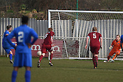 Greenwich Borough's Michael Power  scores from the spot during the Southern Counties East match between AFC Croydon Athletic and Greenwich Borough at the Mayfield Stadium, Croydon, United Kingdom on 12 March 2016. Photo by Martin Cole.