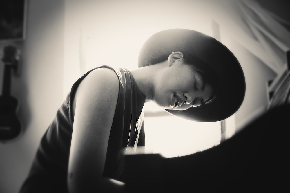 Treya Lam, songwriter and composer, for the Creative Spaces of NYC Musicians photo series