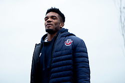 Marcus Delpeche of Bristol Flyers heads towards the bus before leaving the Village Hotel to travel to Worcester Wolves - Photo mandatory by-line: Ryan Hiscott/JMP - 01/11/2019 - BASKETBALL - University of Worcester - Bristol, England - Worcester Wolves v Bristol Flyers - British Basketball League Cup