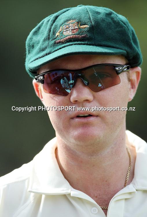 Australian bowler Doug Bollinger.<br />Test Match Cricket. 1st test. Day 3.<br />New Zealand Black Caps versus Australia. Basin Reserve, Wellington, New Zealand. Sunday 21 March 2010. Photo: Andrew Cornaga/PHOTOSPORT