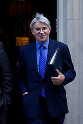 © Licensed to London News Pictures. 16/10/2012. LONDON, UK. Andrew Mitchell, the Chief Whip is seen leaving number 10 Downing Street after today's meeting of David Cameron's cabinet in London today (16/10/12). Photo credit: Matt Cetti-Roberts/LNP