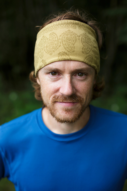 Portrait of a male trail runner.