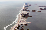 Blowouts and washouts after Hurricane Sandy along the eastern end of Fire Island near Smith Point.