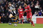 Swansea City midfielder Leroy Fer (8) during the FA Cup 4th round match between Notts County and Swansea City at Meadow Lane, Nottingham, England on 27 January 2018. Photo by Jon Hobley.
