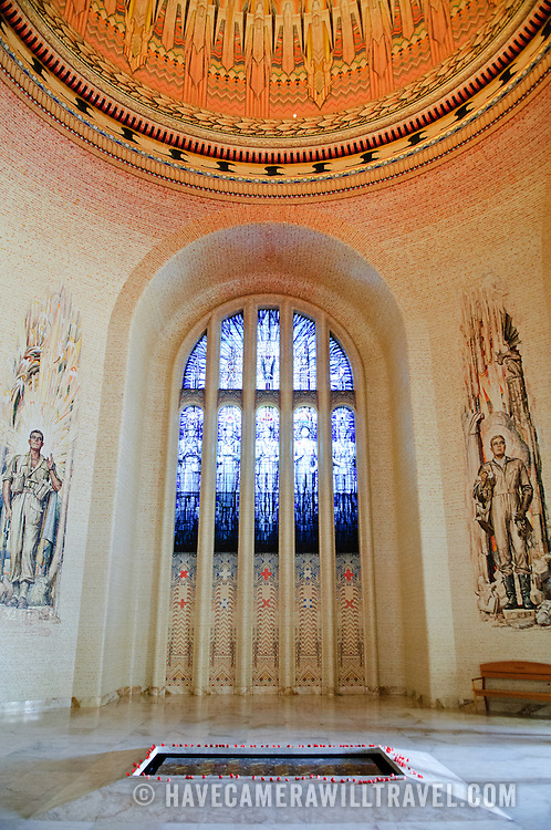 Interior of the Tomb of the Unknown Soldier at the Australian War Memorial in Canberra, ACT, Australia