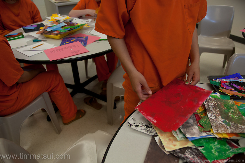 Youth art program at the Denney Juvenile Detention Center in Everett.