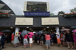 © licensed to London News Pictures.16/06/2011. Ascot, UK.  Ladies day at Royal Ascot races today (16/06/2011). The 5 day showcase event is one of the highlights of the racing calendar. Horse racing has been held at the famous Berkshire course since 1711 and tradition is a hallmark of the meeting. Top hats and tails remain compulsory in parts of the course. Photo credit should read: Ben Cawthra/LNP
