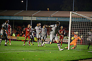 Crawley Town's scores their second goal during the EFL Sky Bet League 2 match between Crawley Town and Grimsby Town FC at the Checkatrade.com Stadium, Crawley, England on 26 November 2016. Photo by Jarrod Moore.