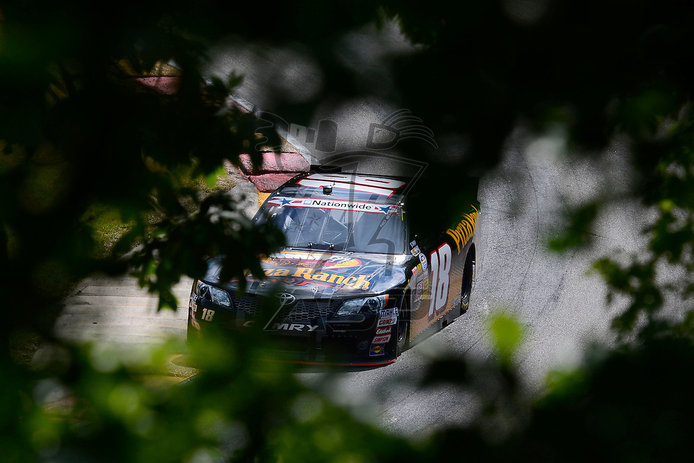 Elkhart Lake,WI - JUN 22, 2012: Michael McDowell (18) during practice for the Sargento 200  race at the Road of America in Elkhart Lake , WI.