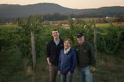 Ben & Ted Casteel, & Pat Dudley, Bethel Heights , Eola-Amity AVA, Willamette Valley, Oregon