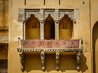 JAIPUR, INDIA - CIRCA NOVEMBER 2016: Detail of the Amber Fort in Jaipur