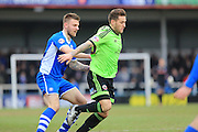 Ashley Eastham, Ryan Flynn during the Sky Bet League 1 match between Rochdale and Sheffield Utd at Spotland, Rochdale, England on 27 February 2016. Photo by Daniel Youngs.