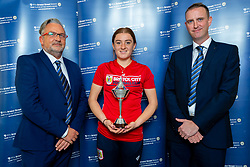 Bristol Street Motors representatives present Sophie Baggaley with her Player of the Month award for September 2018 - Ryan Hiscott/JMP - 19/11/2018 - SPORT - SGS College Filton - Bristol, England - Sophie Baggaley receives her Player of the Month award for September 2018