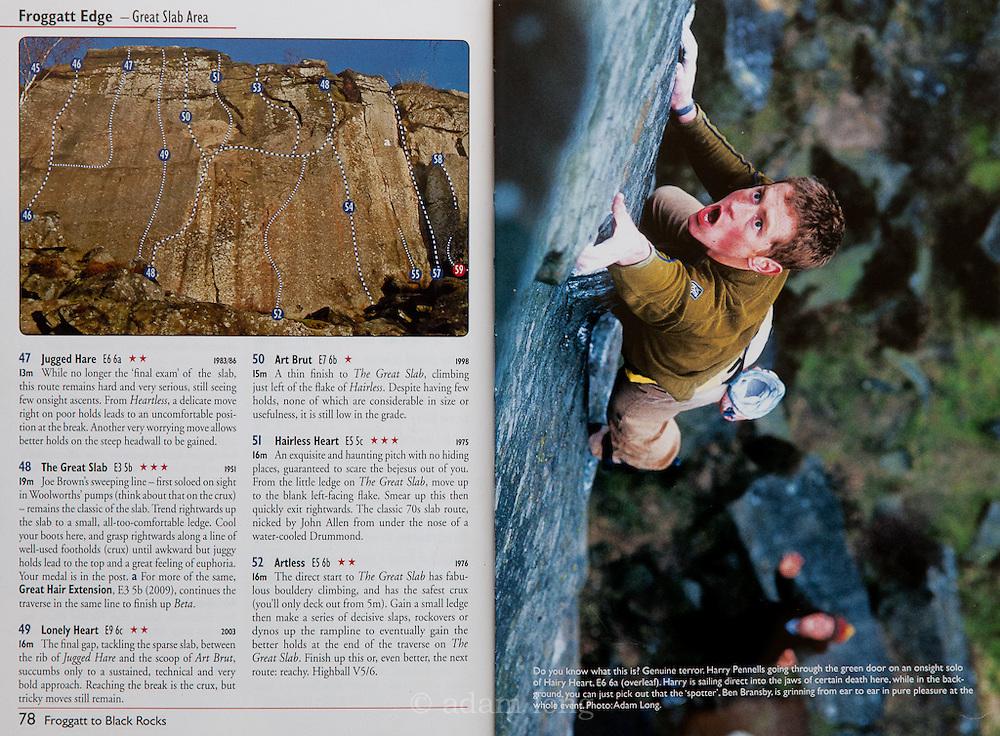 Spread, BMC Froggatt to Black Rocks Guidebook