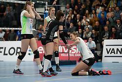 20190131 NED: Semi Final Cup Sliedrecht Sport - Eurosped, Sliedrecht <br />Eline Timmerman (9), Vera Mulder (8), Susanne Kos (1), Rochelle Wopereis (12) of Team Eurosped Twente<br />©2019-FotoHoogendoorn.nl / Pim Waslander