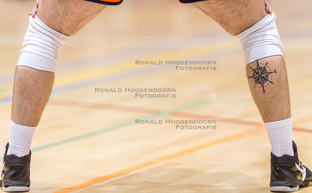 05-06-2016 NED: Nederland - Duitsland, Doetinchem<br /> Nederland speelt de laatste oefenwedstrijd ook in  Doetinchem en speelt gelijk 2-2 in een redelijk duel van beide kanten / Tattoo Dirk Sparidans #5
