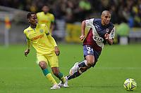 Chaker ALHADHUR / Wahbi KHAZRI  - 13.12.2014 - Nantes / Bordeaux - 18eme journee de Ligue1<br />Photo : Vincent Michel / Icon Sport