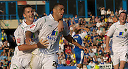 Picture by Ady Kerry/Focus Images Ltd.  .26/09/09.Norwich's Darel Russell celebrates his side's last minute equaliser during their Coca-Cola League 1 game at the Priestfield Stadium, Gillingham, Kent.